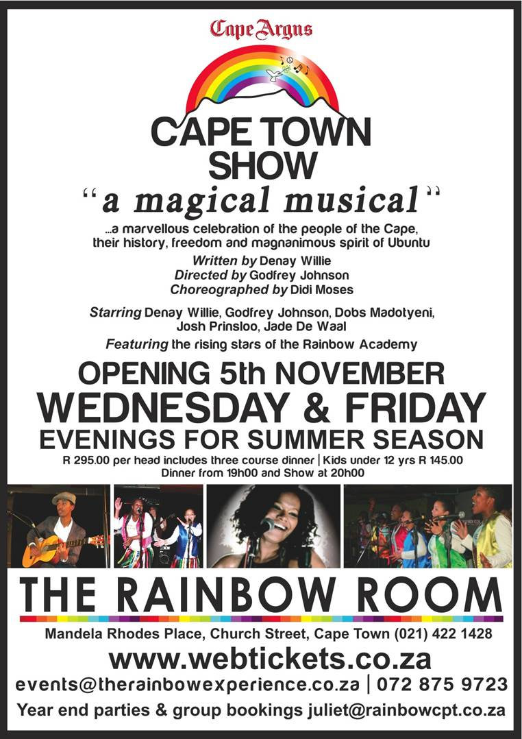 CAPE TOWN SHOW opening on 5