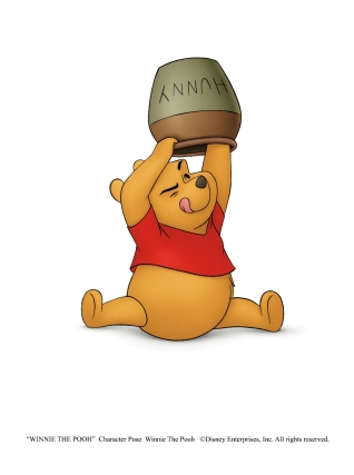 """""""WINNIE THE POOH"""" Character Pose Winnie The Pooh ©Disney Enterprises, Inc. All rights reserved."""
