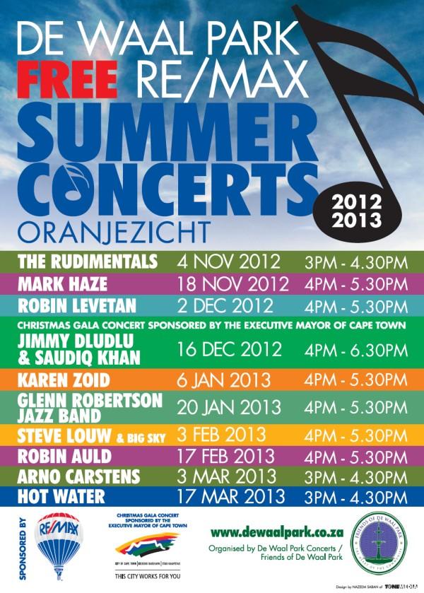 De Waal Park Re/Max Free Summer Concerts 2012/2013