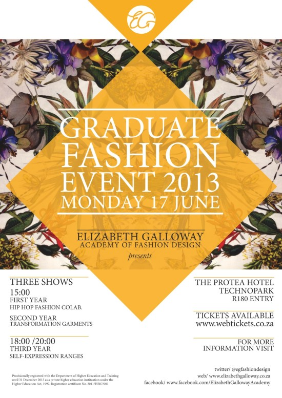 Elizabeth Galloway Graduate Fashion Event 2013 Monday 17 June