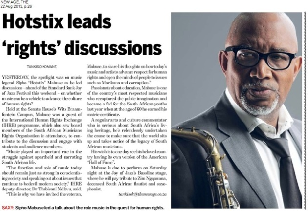 Hotstix leads 'rights' discussions