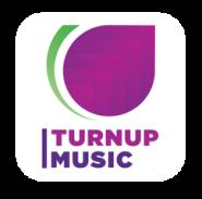 turnupmusiclogo online white