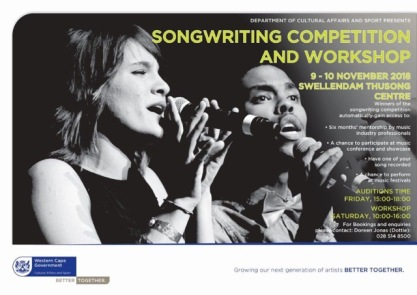 songwriting competition 2018 swellendam 30 october 2018